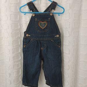 🎀4/$20 Oshkosh denim overalls size 9months